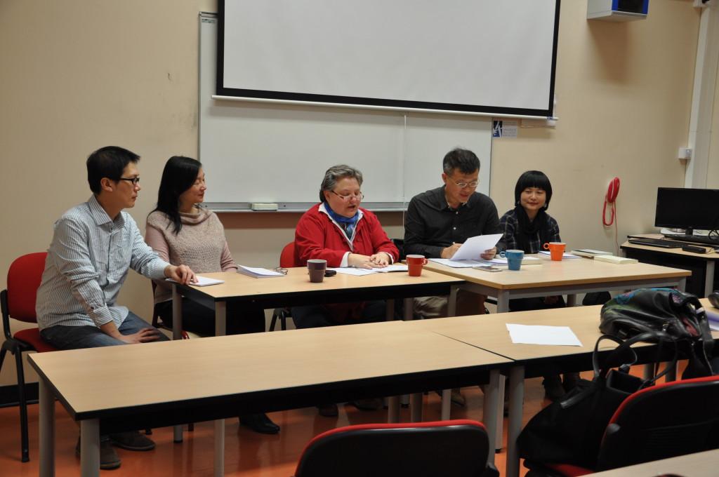 De gauche à droite : Lo Shih-lung, TSAI Hsiao-ying, Carole THOUVENIN, CHEN Li et YE Mimi