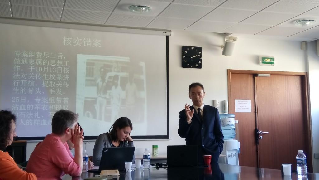 M. HE Jiahong, écrivain et professeur de droit criminel à l'Université Renmin (site de Pékin)