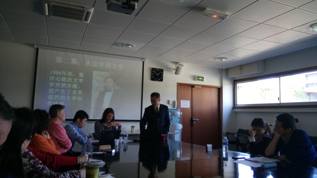 Du droit à la littérature. M. HE et ses interprètes Nancy Balard et Ma Jun