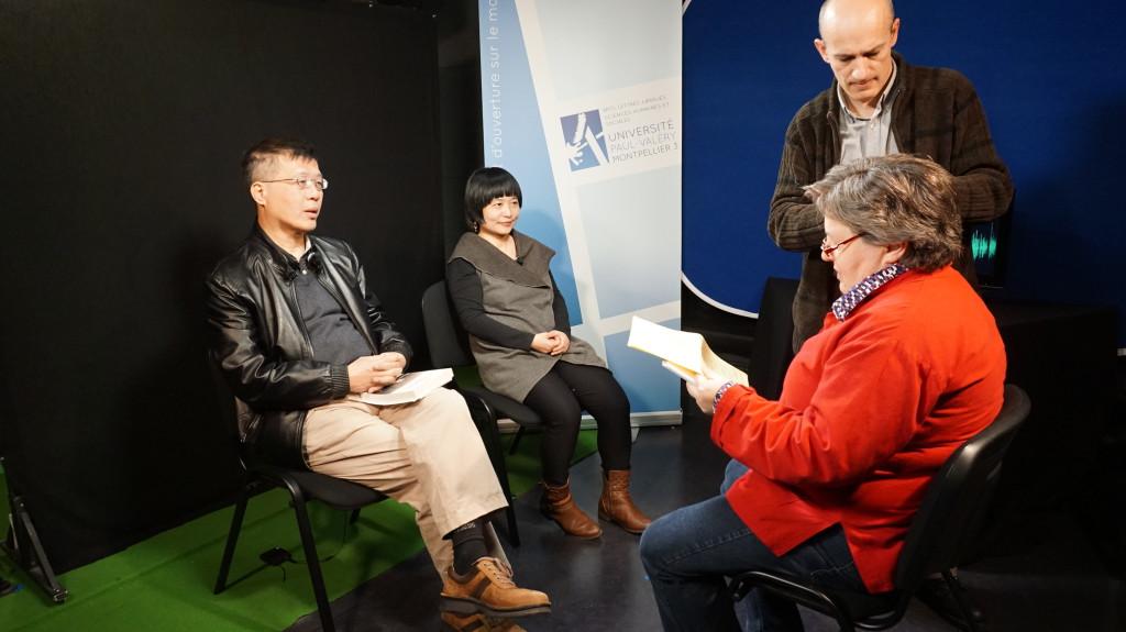 Carole Thouvenin et Fabrice Belmessieri réalisent une interview filmée des deux poètes