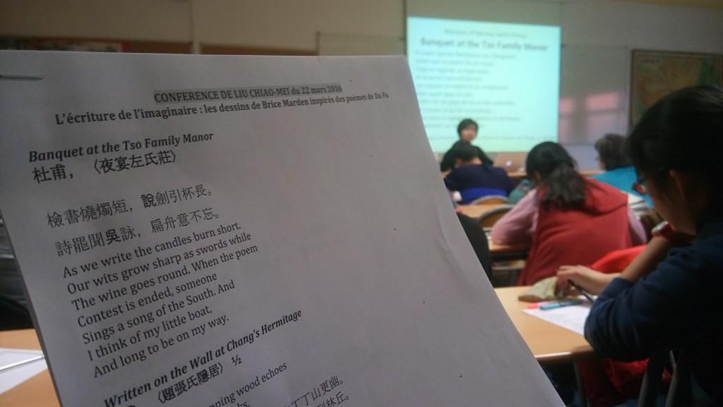 Brice Marden a découvert Du Fu a travars les traductions de Kenneth Rexroth