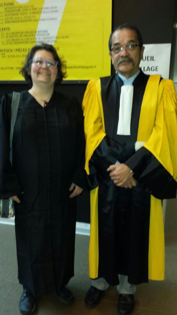 Isabelle et son directeur de thèse, M. Patrick Doan, MCF HDR émérite