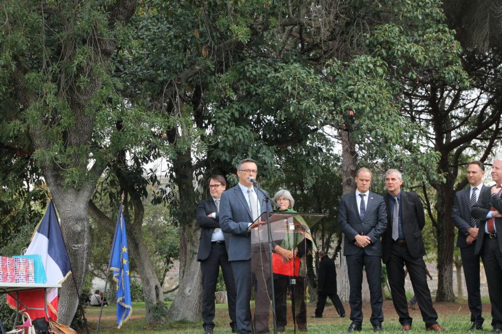 Le Président de l'Université, M. Patrick Gilli, pendant son discours d'ouverture de la Fête Internationale
