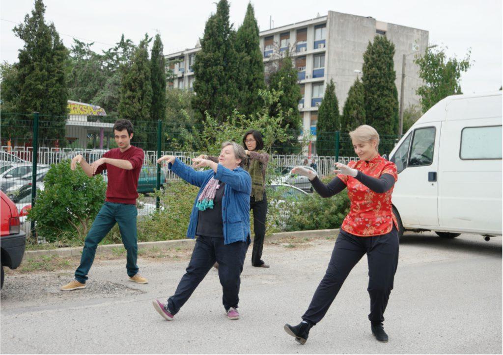 Démonstration de taijiquan et de qigong